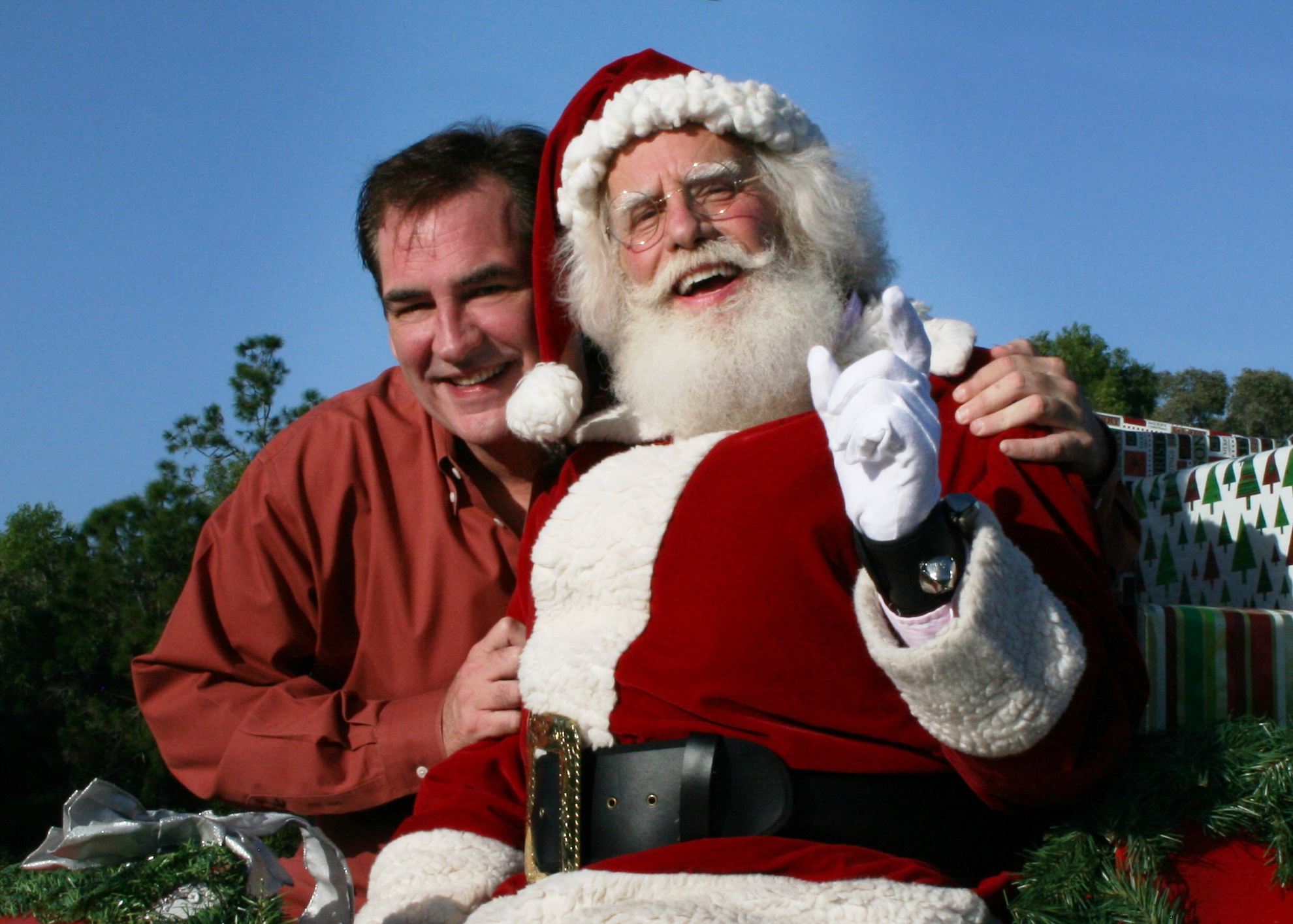Santa Claus and Randall Kenneth Jones - photo by Derek Wakefield